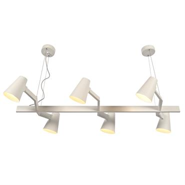 Suspension blanche 6 lampes
