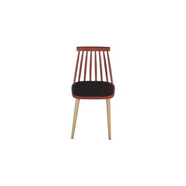 Chaise design nordique Rouge