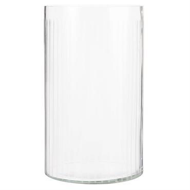 Photophore en verre strié