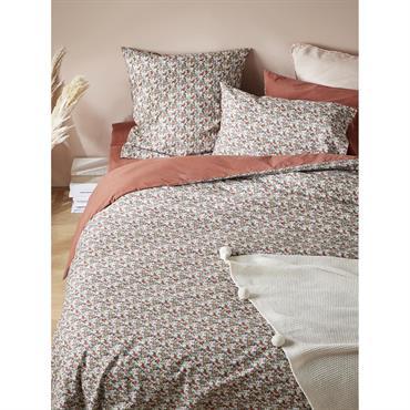 Une multitude de fleurs tapissent cette parure de lit élégante, vive et délicate. Le tissu Liberty se met aux couleurs de l'automne et c'est toute la chambre qui s'illumine. Création ...