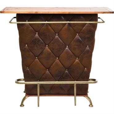 Bar vintage marron et acier doré