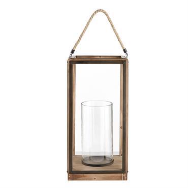 Prolongez vos soirées estivales avec la lanterne en verre et sapin FORMAN ! Idéale pour illuminer votre terrasse à la lueur des bougies, elle diffusera une atmosphère conviviale et festive ...