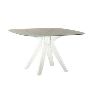 Table Sir Gio / Verre - 120 x 120 cm - Kartell transparent