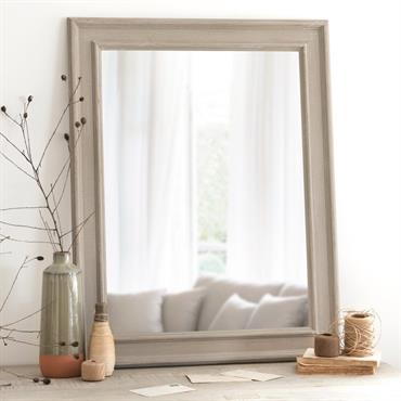 Miroir en paulownia beige 70x90