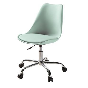 Chaise de bureau à roulettes verte Bristol