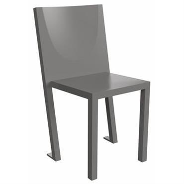 Chaise empilable Diki Lessi / Plastique - TOG Gris acier en Matière plastique