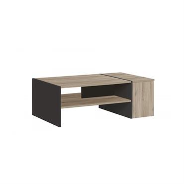 Table basse avec rangement bar L107cm - Marron