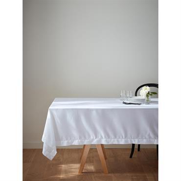 Nappe anti-taches aspect lin blanc