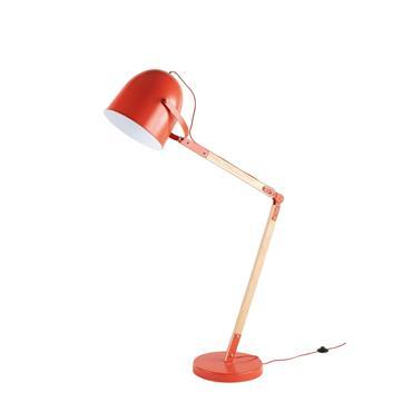 Lampadaire en métal rouge H164