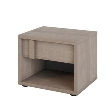 Chevet 1 tiroir 1 niche Aloïs