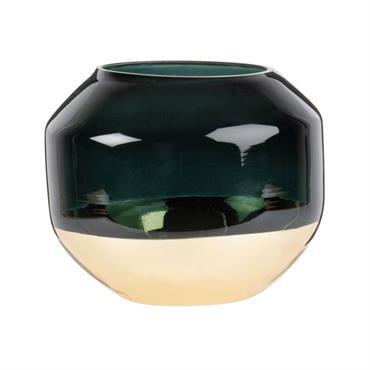 Lumignon en verre doré et vert