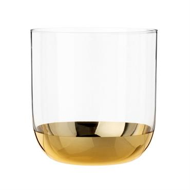 Gobelet en verre et fond doré