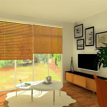 Ce séjour de 20 m2 bénéficie d'une luminosité exceptionnelle grâce à ses deux baies vitrées et d'une vue exceptionnelle sur ... Domozoom