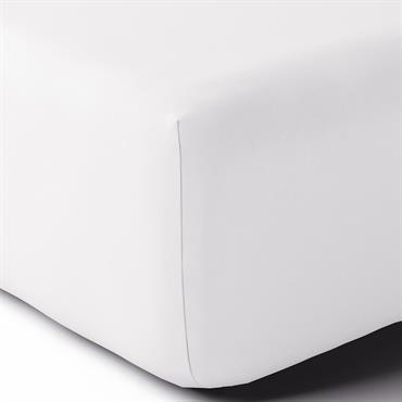 Drap housse coton 90x190 cm blanc