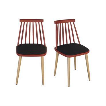 Lot 2 chaises design Rouge