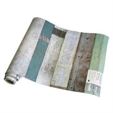 Papier peint Scrapwood / 1 rouleau - studio ditte bois naturel
