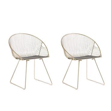 Lot de 2 chaises dorées