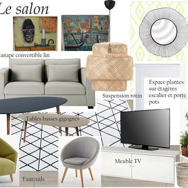 Planche tendance salon moderne cosy