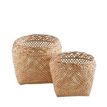 Vos écharpes et accessoires manquent de place ? On a tout le rangement qu'il vous faut avec les 2 corbeilles tressées en bambou MANILLE. Aussi belles que pratiques, elle ajouteront ...