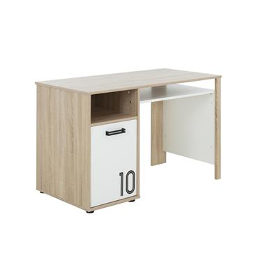Découvrez cet élégant bureau avec une porte et grande tablette style naturel GAMI - Fabrication Française qui vous offrira non seulement un confortable espace de travail mais permet également de ...