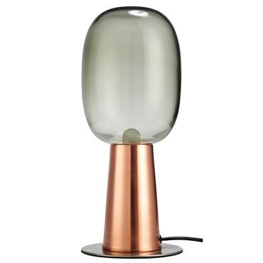 Lampe en métal cuivré et verre fumé OP ART
