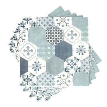 Serviettes en papier motif carreaux de ciment