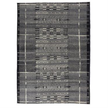 Tapis d'extérieur et intérieur durable gris multicolore 60x100 cm