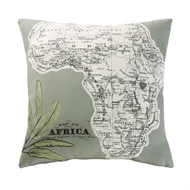 Une teinte vert kaki douce et chaleureuse, un imprimé qui invite à l'évasion... Voyagez au cur même de votre jardin avec le coussin d'extérieur imprimé carte AFRICA . Avec son ...