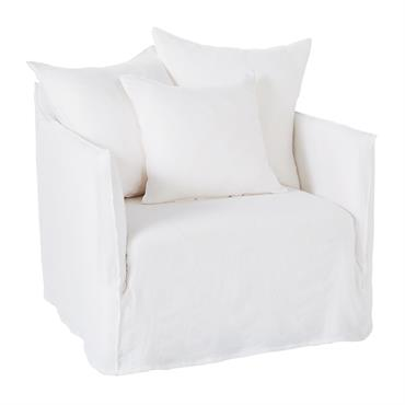 Mélange d'intemporalité et de lignes épurées, le fauteuil en lin blanc SAMSON saura mettre en avant votre pièce. Robuste grâce à sa structure et ses pieds en pin massif, il ...