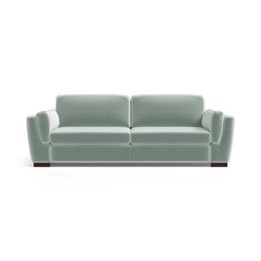 Canapé 3 places en velours menthe