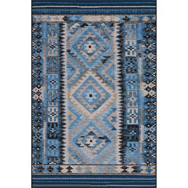 Tapis pour l'intérieur et l'extérieur - bleu multicolore 120x180 cm