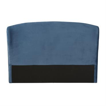Tête de lit 160 en velours bleu Tara
