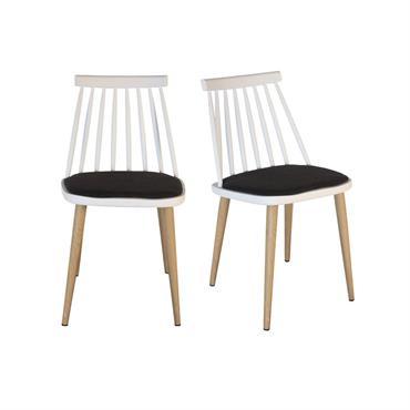 Lot 2 chaises design Blanc