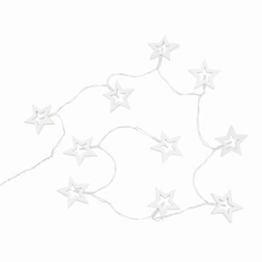 Guirlande de Noël lumineuse étoiles 10 LEDS L120