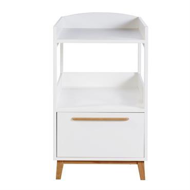 Table à langer 1 étagère 1 tiroir blanche Sweet