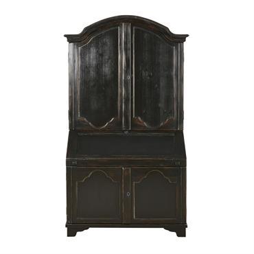 Armoire secrétaire 4 portes noire Feydeau