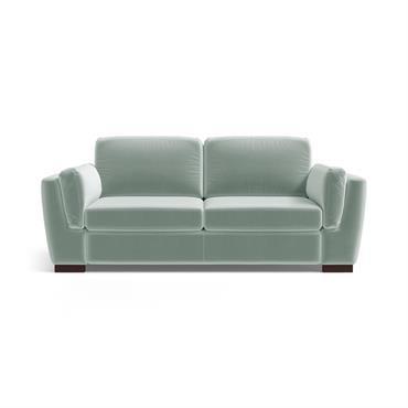 Canapé 2 places en velours menthe