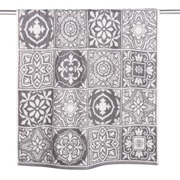 Serviette en coton motifs carreaux de ciment 70x140