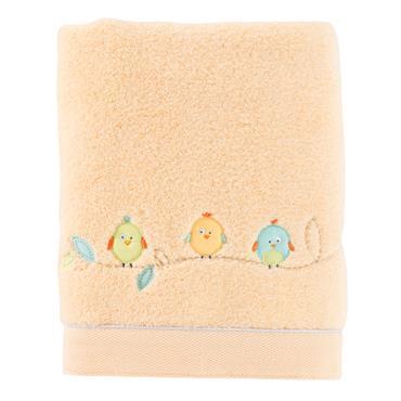 Le drap de bain TINI de couleur blanche est composé à 100% de microcoton brodé 450 g/m².Liteau inférieur de 4 cm en piqué de coton séparé de l'éponge par un ...