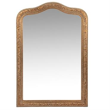 Miroir en paulownia doré mat 65x95