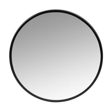 Miroir rond en métal noir D21