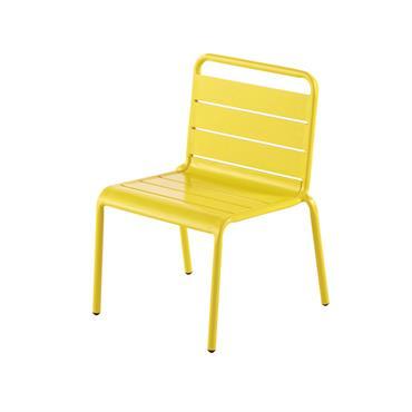 Chaise enfant en métal jaune Fun Summer