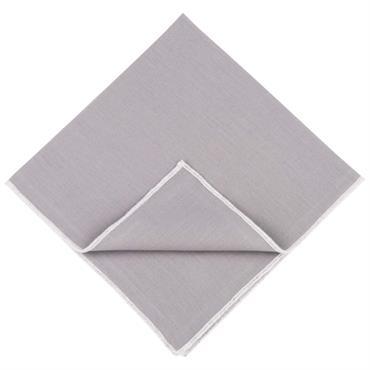 4 serviettes en coton brodé gris 40x40