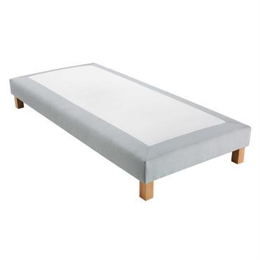 Sommier tapissier gris clair 90x200 Hubert