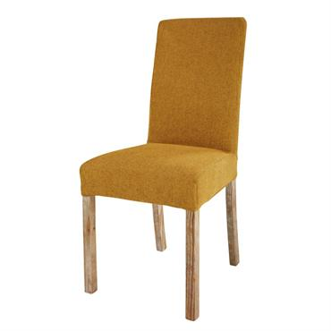Housse de chaise en tissu ocre