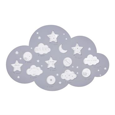 Et si vous affichiez les premiers mois de bébés dans le cadre multivues nuage 12 photos gris 50x32 CELESTE ? Chaque vues vous permettra d'y placer une photo de votre ...