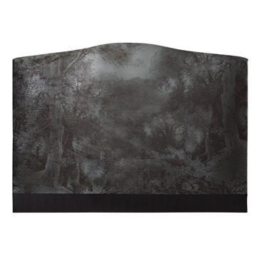 Tête de lit 160 en velours imprimé forêt Esther