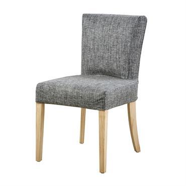 Housse de chaise gris carbone