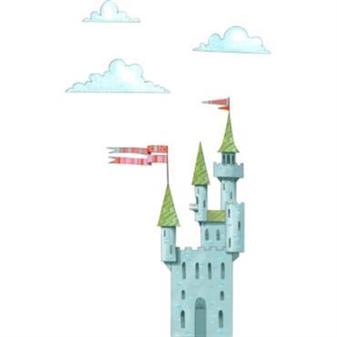 Le sticker Château de chevaliers est un décor mural adhésif, enlevable. Ce décor fera la fierté de votre petit garçon et le rendra plus fort ! Acte Déco est heureux ...
