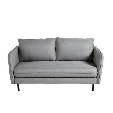 Canapé 2 places gris clair Kaito